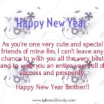 Happy New Year Brother Sms Twitter