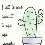 Inspirational Cactus Quotes Tumblr