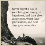 Never Regret A Day In Your Life Author Twitter